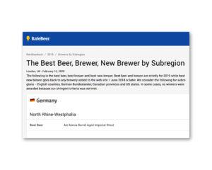 RateBeer Best Beer 2019
