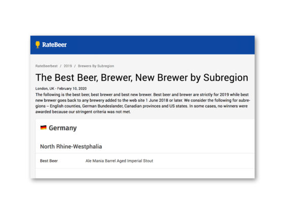 RateBeer Best Beer 2019